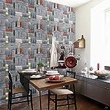 HINK Autocollant Mural Brique Naturelle Papier Peint Auto-adhésif Bricolage Autocollant Mural Panneaux décalcomanie étanche Maison et Jardin décor à la Maison