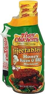 Tony Chachere's Marinade Honey Bacon BBQ w/ Injector, 17-Ounce (Pack of 3)