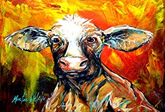 Caroline's Treasures MW1225PLMT Another Happy Cow Fabric Placemat, Large, Multicolor