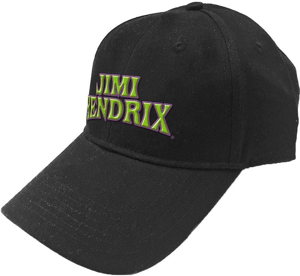 Jimi Hendrix Men's Arched Logo Baseball Cap Black