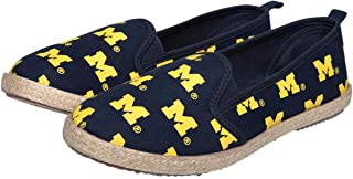 S FOCO Michigan Wolverines NCAA Womens Stripe Canvas Shoes