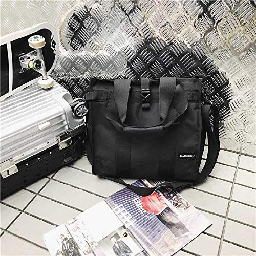 pyc88 Casual Crossbody Bag Canvas Men's Bag Bag Shoulder Bag Student Messenger Bag Diagonal Cross Bag Female Korean Edition Backpack Femme Sombre