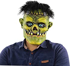 FEOYA Scary Halloween Mask, 2019 Gory Clown Latez Masks with Hair, Creepy Cosplay Costume Masquerade Party Decoration Props
