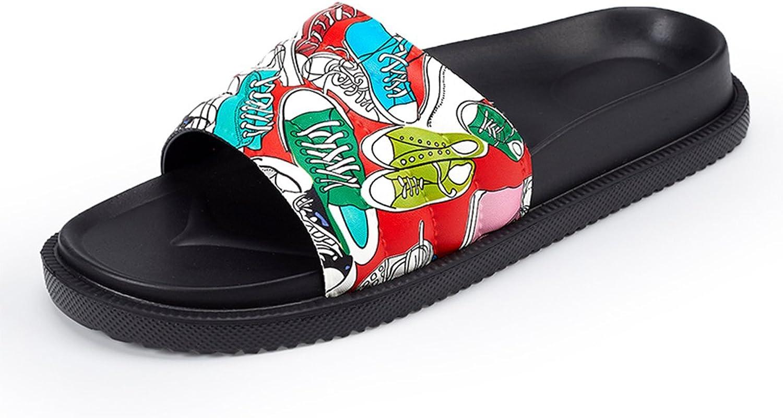 Mageed Graffiti Summer Women Slides Beach Slippers Platform Women shoes Flip Flops