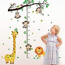 1 Pc Animal Park Vinyl Wall Stickers DIY 3D Children Height Poster Wallpaper Lotus Flower Dinosaur Ocean World Decals Baby Living Room Car Decal Bright Fashionable Mural Art Decor
