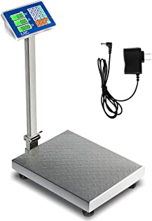 Happygrill Weight Scale 660lbs Digital Scale, Floor Platform Scale for Weighing Package Shipping Mailing Postal Scale with LB/KG Price Calculator