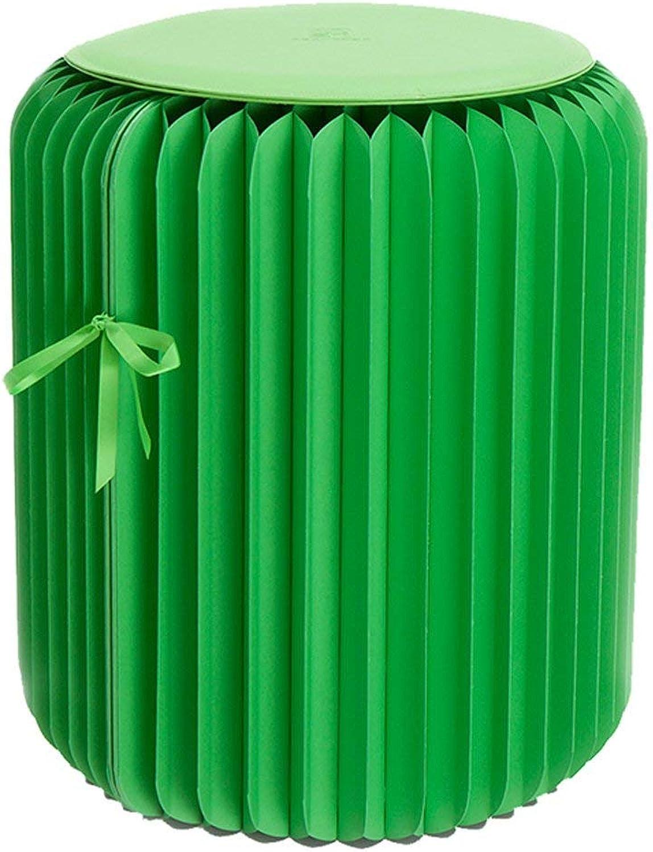compra en línea hoy ZDSN ZDSN ZDSN Silla Plegable de Papel de 42 cm Hecha de Papel Kraft Impermeable Adecuado para Interiores y Exteriores Silla Plegable Amarilla Naranja Azul verde  moda