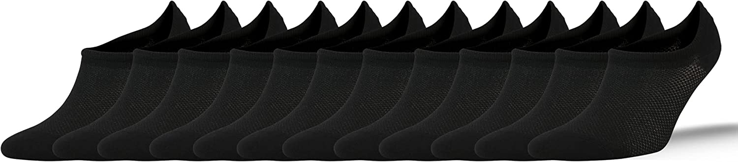 NORDSOX No Show Socks for Women/Men 6 pack Low Cut Ankle Casual Invisible Non-Slip Durable Socks 6-10/10-13
