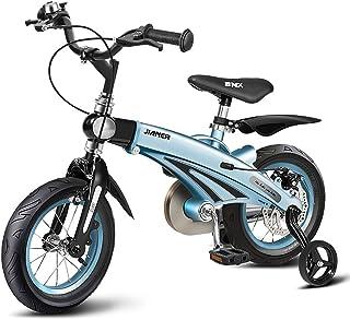Bicicletas Para Niños, Bicicleta Con Montura De Aleación De Magnesio Con Ruedas Estabilizadoras, Peso Ligero Y Freno De Disco, Altura Y Longitud Ajustables, Ensamblaje Fácil 12 '', 14 '', 16 '', Para 2-11 Años