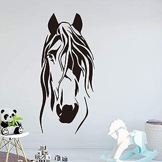 Décoration de la maison Stickers muraux autocollants intérieurs salon chambre d'enfants dessin animé drôle cheval famille ...