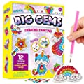 XXTOYS Big Gem Diamond Painting for Kids – Arts & Crafts for Kids - 5D Mosaic Painting Stickers Kit, 12pcs Diamond Art, Great Crafts for Girls Creative Gift for Ages 6-8