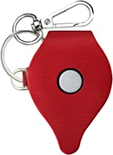 SmartHer Go Plus Case, Go Plus Leather Cover Skins, Portable Design with Keychain Carabiner, Brushed Leather, Red