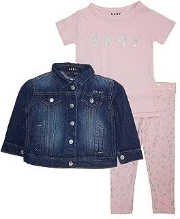 Little Girls' Denim Jacket 3pc Legging Set