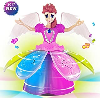 Electronic Robot Pet Dancing Lights Music Pink Doll Dream Room Fairy for Kids Girls Birthday Holiday Xmas Gifts (Multicolour)