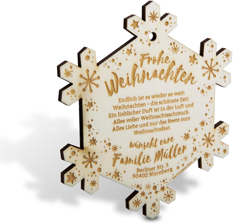 Lasergravierte Weihnachtskarten aus Holz als Weihnachtsdeko Weihnachtsdeko Weihnachtsdeko (100 Stück) - Schneeflocke B01MA3ICNG    | Moderner Modus  2af007