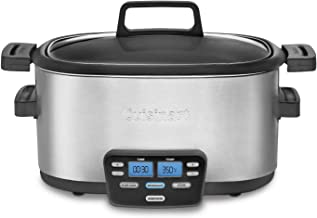Cuisinart MSC-600 3-In-1 Cook Central 6-Quart Multi-Cooker: Slow Cooker, Brown/Saute, Steamer (Renewed)