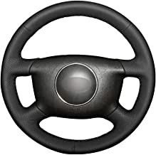TOTVOV Black PU Artificial Leather Car Steering Wheel Cover for Audi A2 (8Z) A3 (8L) Sprotback A4 (B5 B6) Avant A6 (C5) A8 (D2) S4