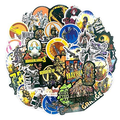 LZWNB Juego de Disparos Borderlands 3 Pegatinas para álbum de Recortes, Maleta, monopatín, Guitarra, Ordenador, Motocicleta, Juguete, decoración DIY, 50 Uds.