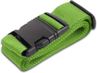 Green Luggage Belts Suitcase Straps Adjustable and Durable, Name Card, Travel Case Accessories, 1 Pack