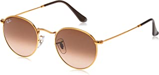 Ray-Ban RB3447 Round Metal Sunglasses, Shiny Light Bronze/Pink Gradient Brown, 47 mm