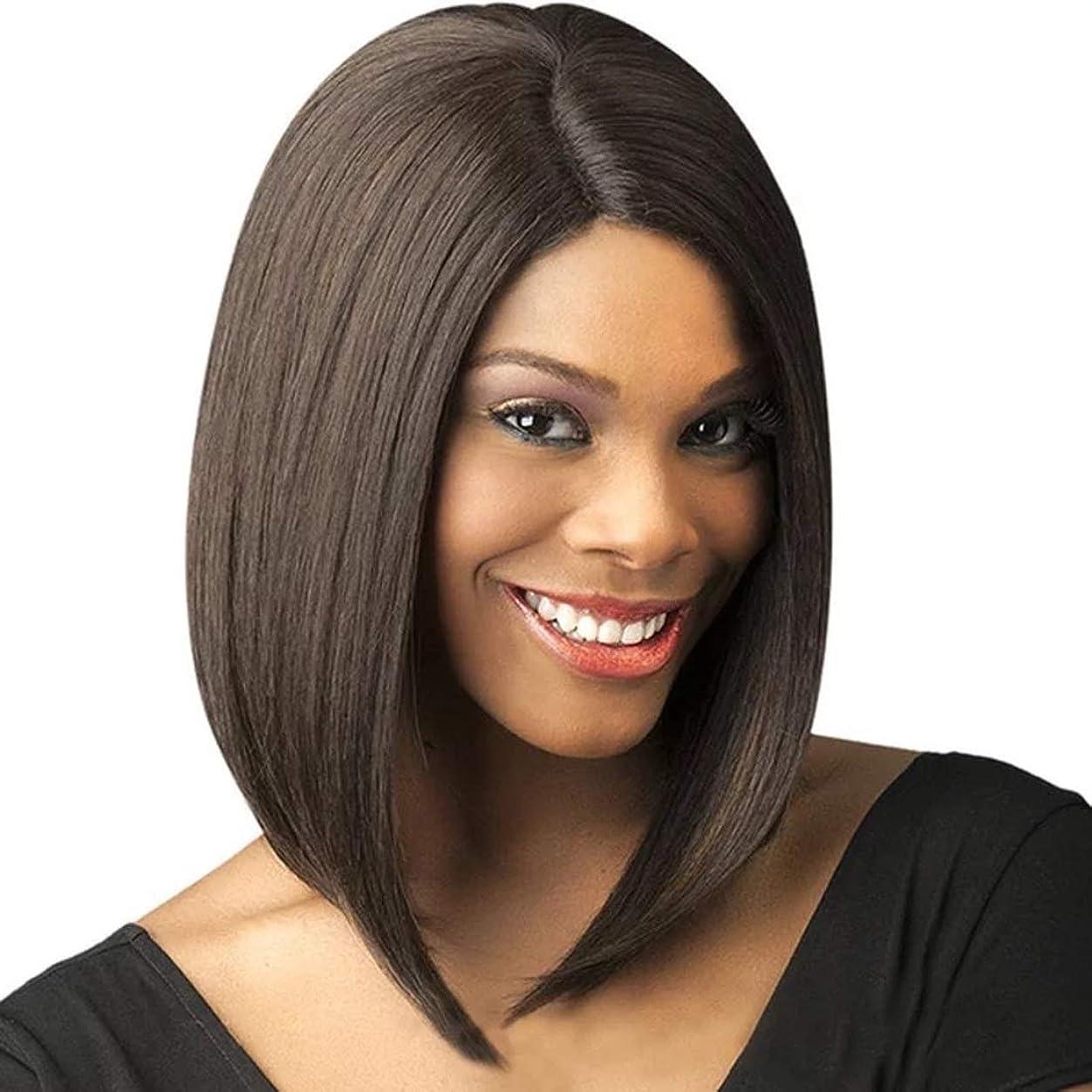 孤独枯れるマウスピースKoloeplf 女性用合成高温かつらロングミディアムロング前髪かつら女性用フルヘッドストレートヘア12インチ/ 180g(ブラック/ダークブラウン/ライトブラウン)