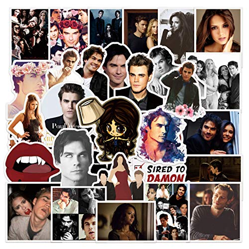 50Pcs The Vampire Diaries Stickers for Kids Toy Waterproof Motorcycle Skateboards Laptop Luggage Bicycle Car Decal Sticker