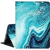 Richyun Marble iPad 9.7 Case 2017 & 2018, iPad Air 1 & 2 Case,iPad 5th & 6th Generation Case, Adjustable Stand Auto Wake Sleep Protective Folio Leather Case, Abstract Blue Ocean