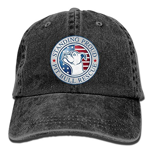 guolinadeou American Pitbull Standing Pround Washed Retro Adjustable Jean Cap Leisure Hats Forman and Woman