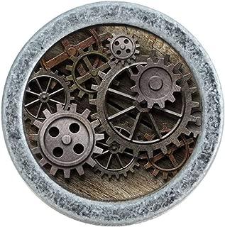MOODSCUS Gear Drawer Knob Dresser Pull Steampunk Knob for Kitchen Cabinet Knob Hardware,Silver1
