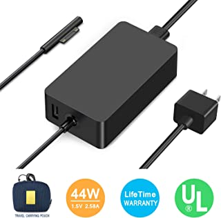 Surface Pro Charger,Surface Book Charger [UL Certified Updated Version]44W 15V 2.58A Power Supply Compatible Microsoft Surface Pro 6 Pro 5 Pro 4 Pro 3 Surface Laptop 1/2 Surface Go Include Travel Case