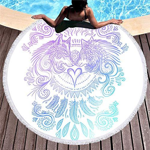 BSSDG Toalla Playa Toalla de Playa Blanca para Adultos Toalla con Borla Manta con Estampado Digital Tapiz Grande Esterillas de Yoga para Yoga Mujeres, Color 1,150x150cm