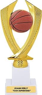 Custom Basketball Trophy Award, Gold, Large, Custom Engraving Award - 9 Inch Tall