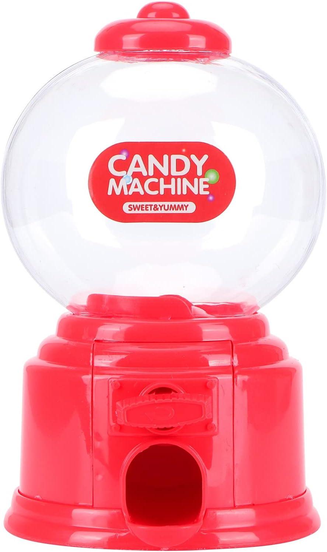 Mini dispensador de dulces clásico, lindo dispensador de nueces de caramelo, máquina divertida, regalos para niños, cumpleaños, fiestas, fiesta de Navidad(rojo)