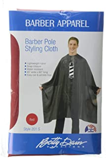 Betty Dain Barber Pole Cutting/Styling Cape, Red
