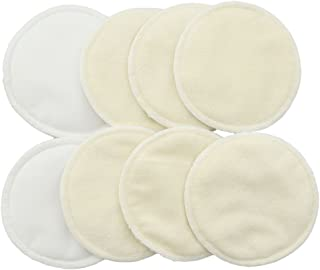 LUOEM 8pcs Nursing Pads Washable Organic Bamboo Breastfeeding Pads Leakproof Reusable Pads