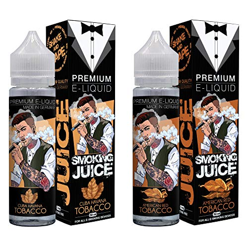 Smoking Juice Cuba Havanna Tobacco & American Red Tobacco E Liquid 2 x 50 ml - eLiquids Made in Germany - E Liquids ohne Nikotin