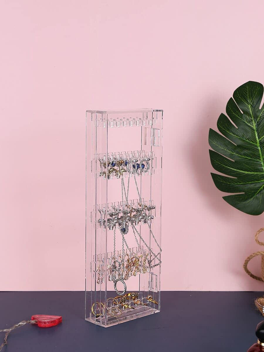Jzhi favorite Jewelry Box 1pc Rectangle Clear Rack Lowest price challenge Color Hanging