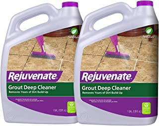 Rejuvenate Grout Deep Cleaner Safe Non-Toxic Cleaning Formula Instantly Removes Years of Dirt Build-Up to Restore Grout to The Original Color (1 Gallon 2 Pack)