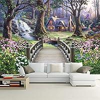 3D写真壁紙壁布自然風景油絵壁画寝室リビングルーム背景-150x120cm