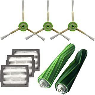 Dolloress Bristle Brushes/Side Brushes/HEPA Filters Vacuum Cleaners Replacement Compatible with iRobot Roomba i7 i7+/i7 Pl...
