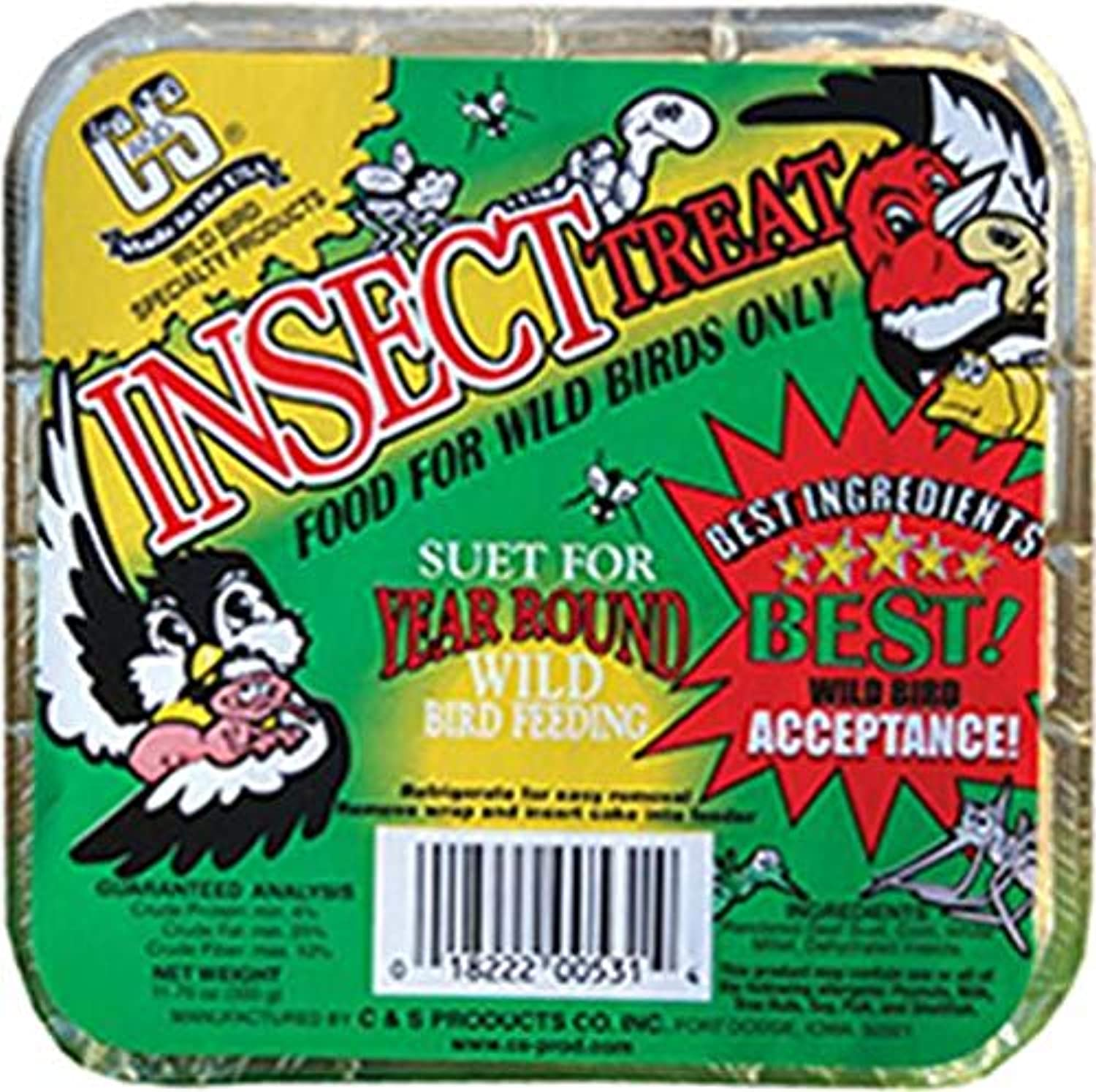 C&S Cands Products CS12531 113 4Ounce Insect Treat Suet