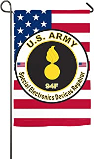 Army MOS 94F Special Electronics Devices Repairer Home Banner Flags Springtime 27