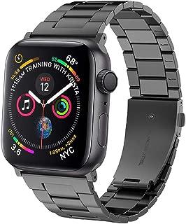 Omter 超薄型 バンド for Apple Watch 44mm Series 5 /4, 42mm Series 3/ 2 / 1,高品質なステンレススチール製バンド、ビジネス風のベルト for iWatch アップルウォッチ の全シリーズ (スペースグレー 42mm 44mm)