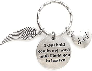 I Will Hold You In My Heart Until I Hold You In Heaven Key Ring Memory Gift Keyring