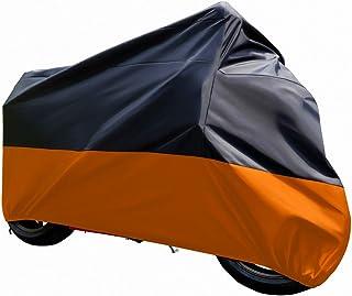 """پوشش موتور سیکلت ضد خورشید سیاه و نارنجی (XXXL) .116 """"برای هوندا کاوازاکی یاماها سوزوکی هارلی دیویدسون"""