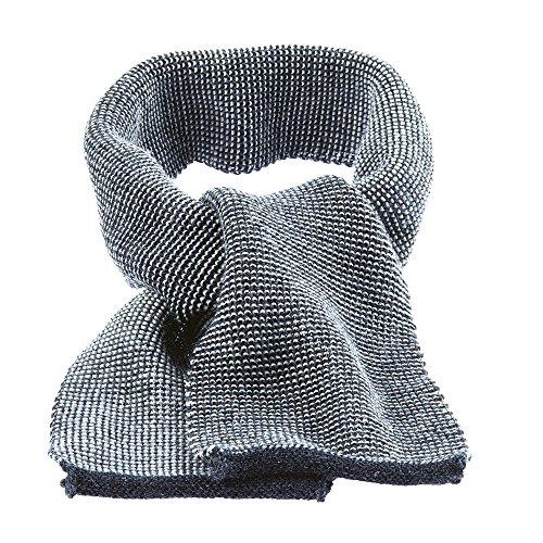 Disana Baby Melange-Schal aus Bio Schurwolle kbT (One Size, anthrazit melange)