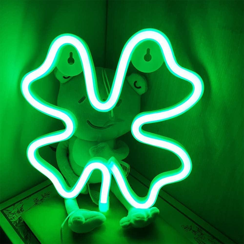 Planeta-Azul Rosado Luces de ne/ón Rayo LED Letreros de pared Decoraci/ón de la habitaci/ón Luces nocturnas con bater/ía y USB para ni/ños Habitaci/ón de beb/é Manguera bar boda Partido Decoraci/ón