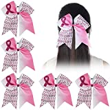 Ncmama Baby Girls Breast Cancer Pink Glitter Cheer Bow Sparkle Hair Tie Ponytail Holder Pack of 5 ponytail holders May, 2021