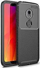 FINON Carbon Design Model [ TPU ] for Motorola Moto G7 Play Case - Fingerprint Prevention Function and Lightweight Soft case, Shock Resistance, Easy desorption, Stylish Design - Black