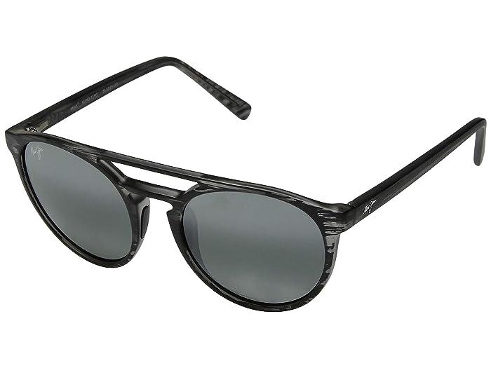 Ah Dang! (Matte Grey Stripe/Neutral Grey) Athletic Performance Sport Sunglasses